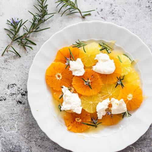 Citrussalade met burrata