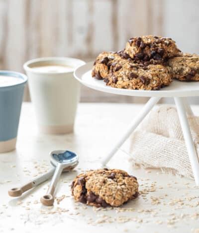 3 ingredient havermout chocolate chip koekjes