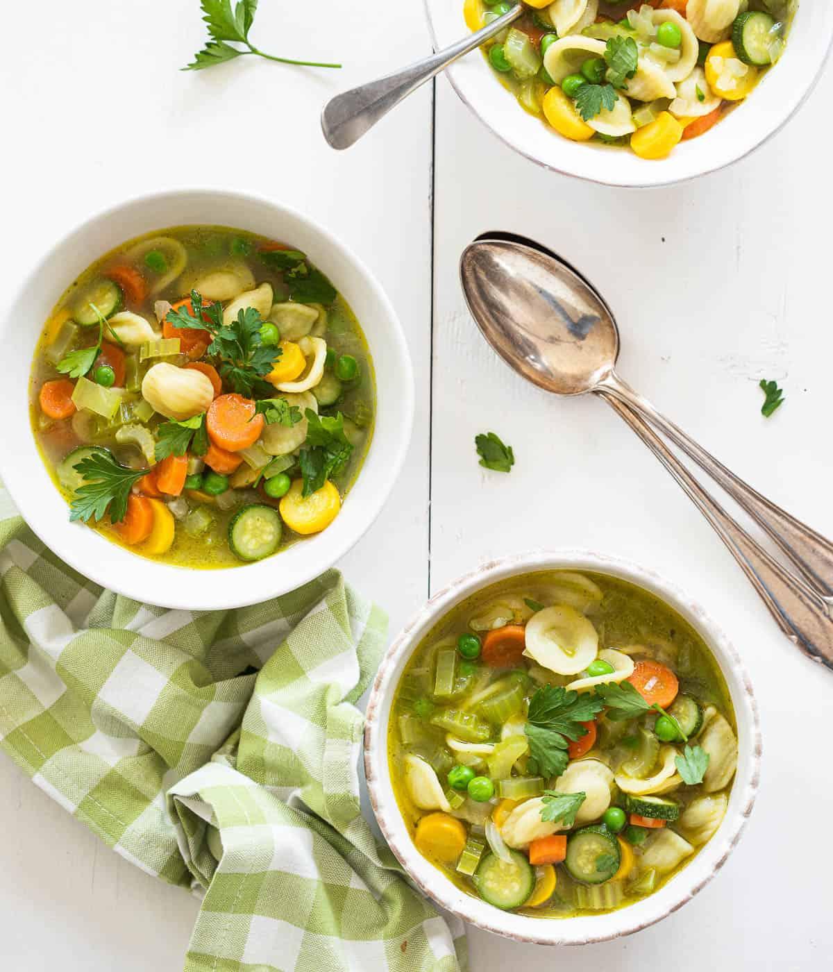 Heerlijke lente minestrone