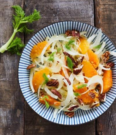 Salade van venkel en bloedsinaasappel