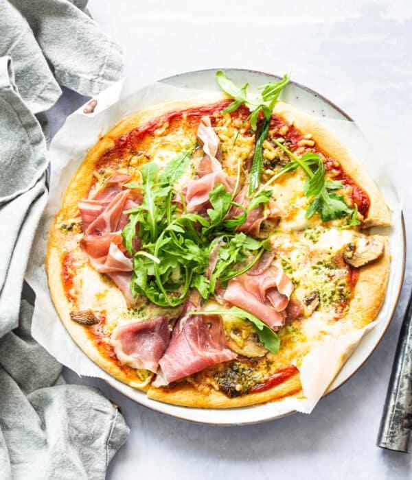 Prosciutto pizza uit de Airfryer