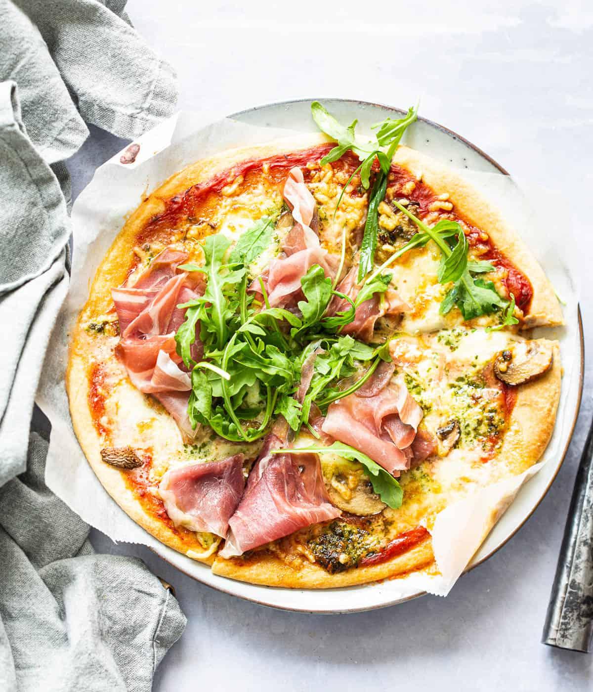 Airfryer pizza