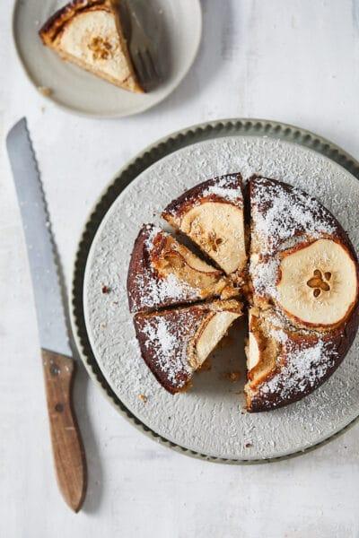 recepten met honing glutenvrije appel-amandelcake