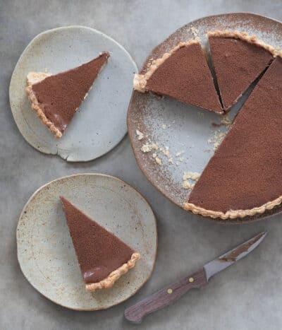 Chocolate milk pie