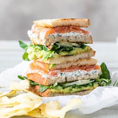 Club sandwich zalm