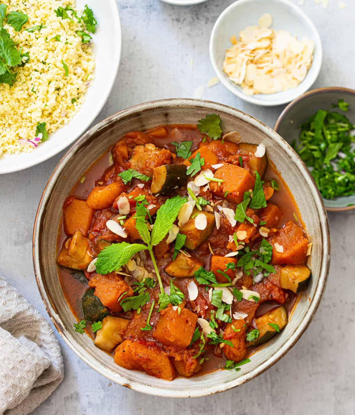 Couscoussalade met groenten