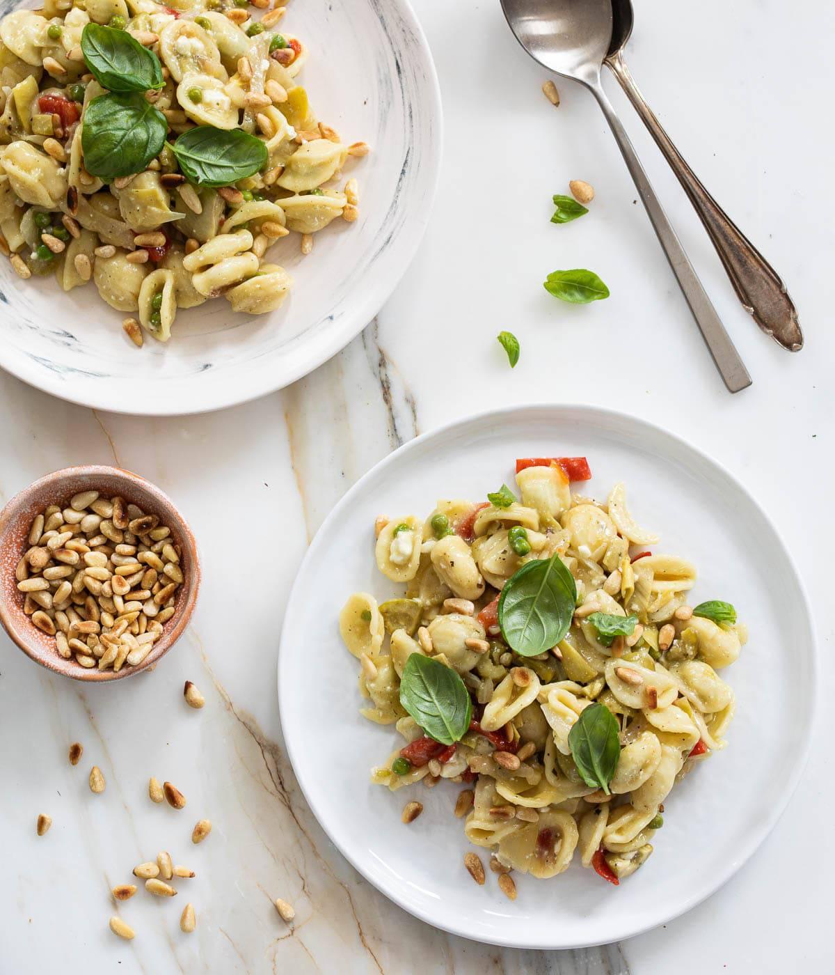 Orechiette met feta en olijf
