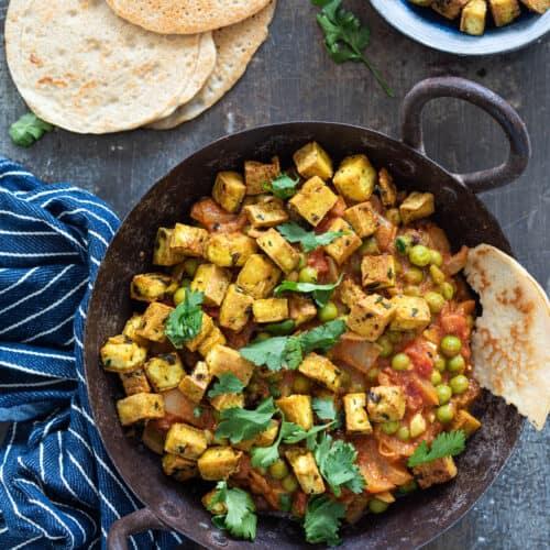 Curry met tofu