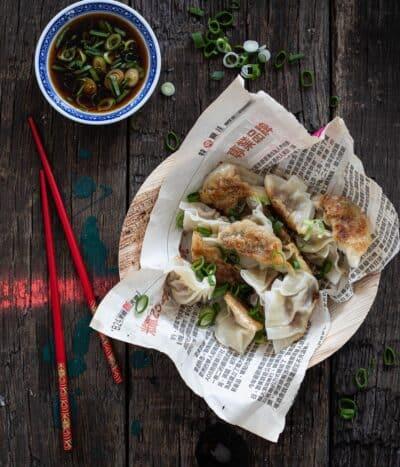 Dumplings met bosui