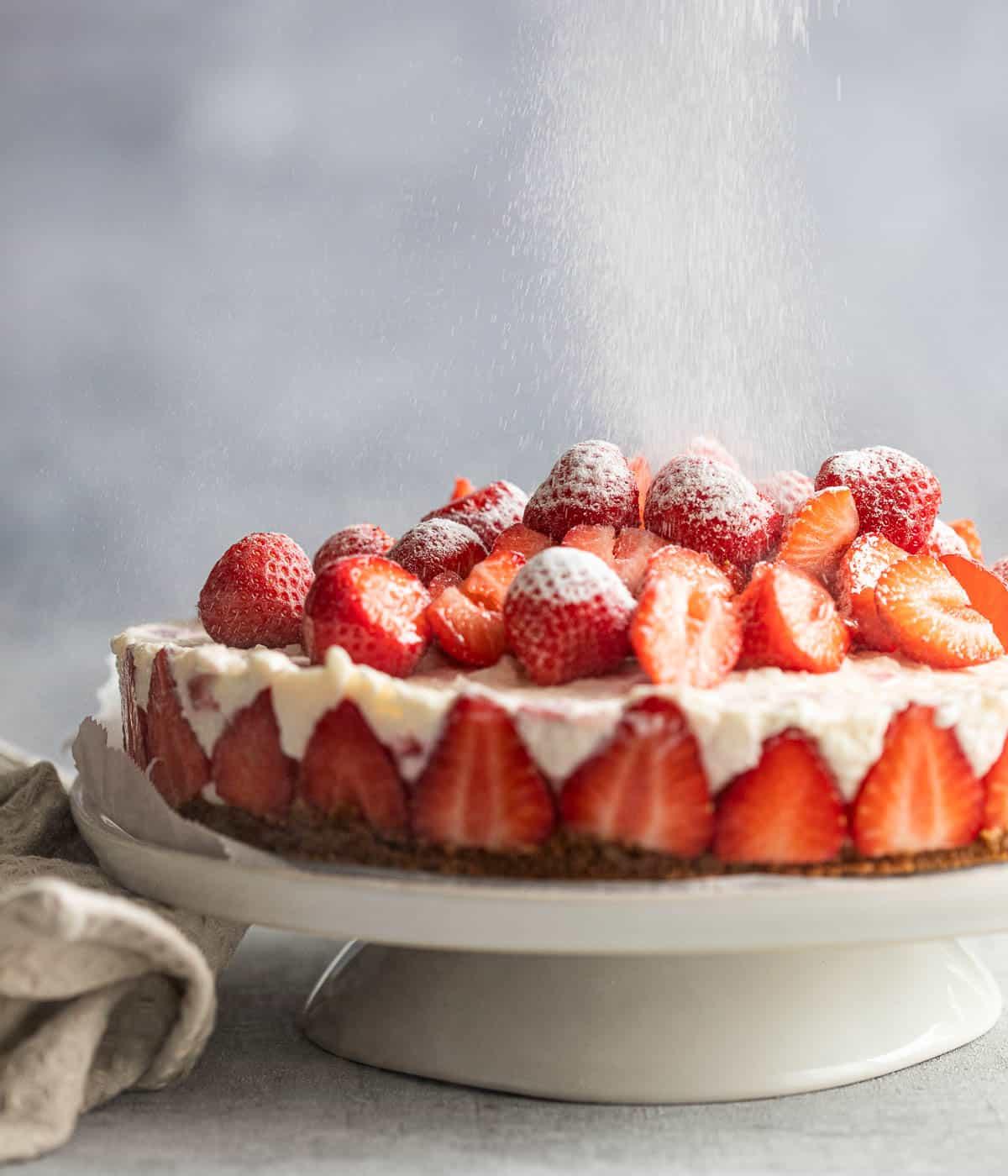 Yoghurt aardbeien cheesecake