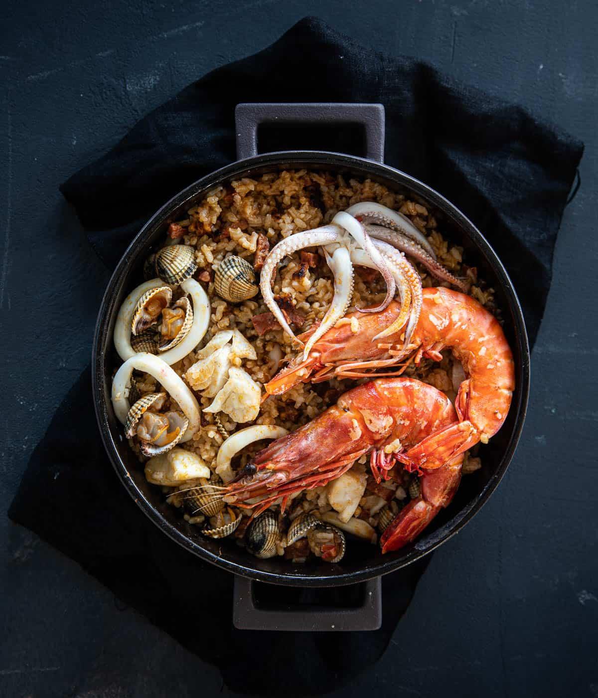 zeevruchtenrisotto uit de oven