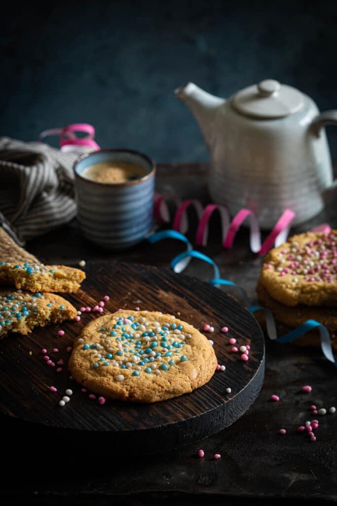 Geboorte chocolate chip koekjes
