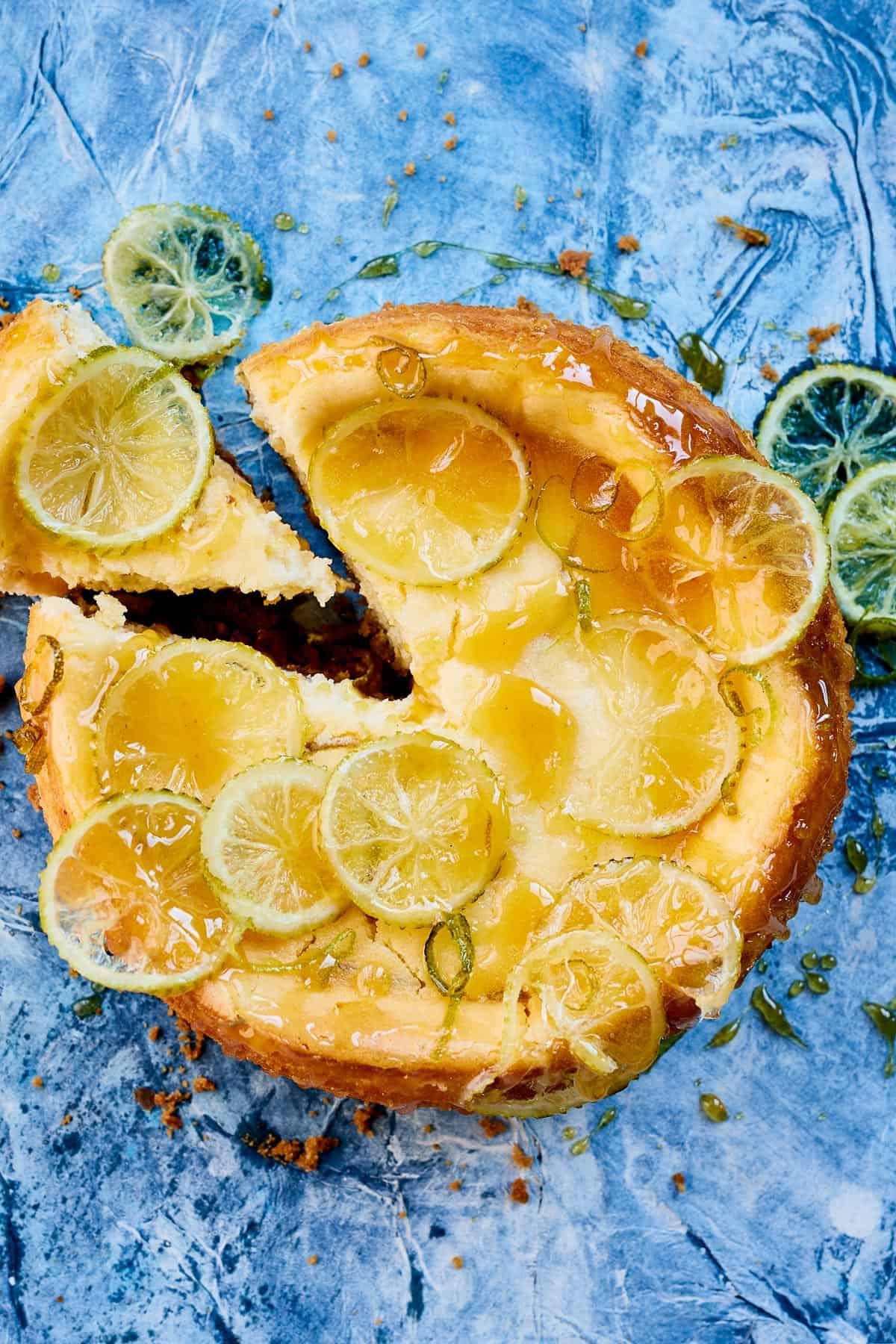 Limoen cheesecake