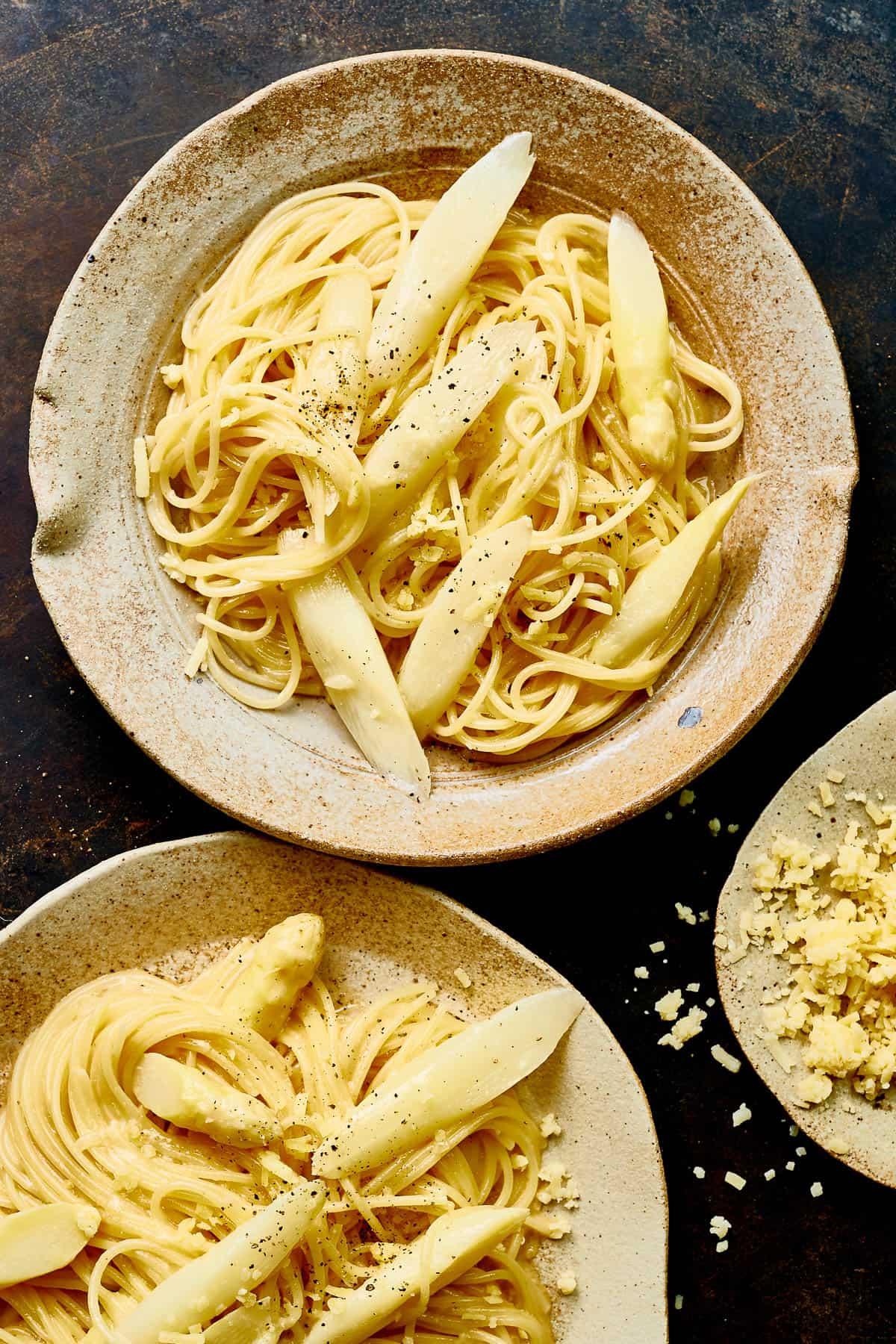pasta carbonara met asperge