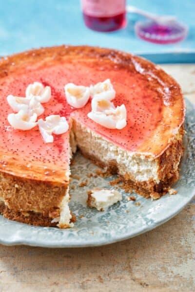 Stroop susu cheesecake een tropische taart