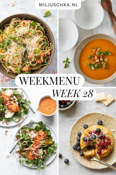 Weekmenu week 28