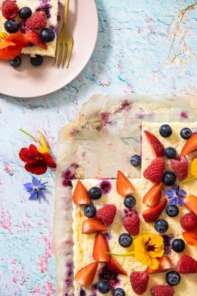 Zomerse cheesecake