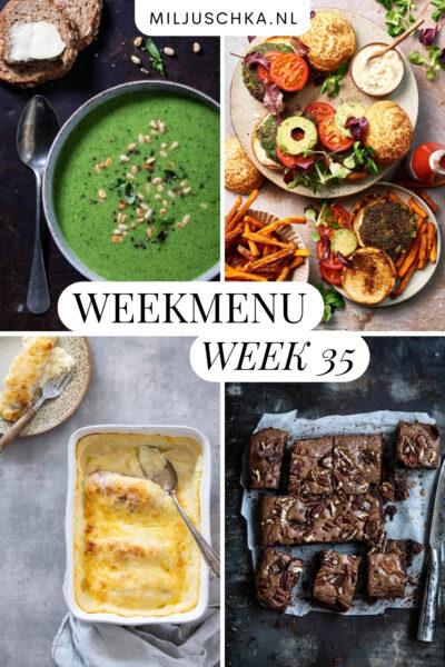 Makkelijk weekmenu voor week 35