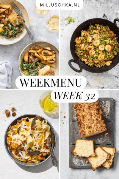 Weekmenu week 32